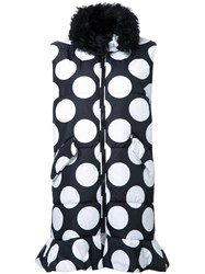 Msgm Dotted Long Waistcoat Black