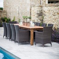 Garden Trading St Mawes Table And Chairs 10 Seater