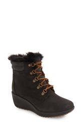 Sperry Women's Luca Waterproof Faux Fur Wedge Boot