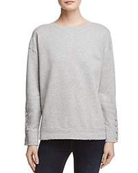 Joe's Jeans Miaya Lace Up Sleeve Sweatshirt Grey