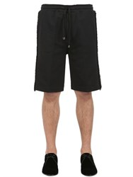 Dolce And Gabbana Cotton Jersey Shorts With Trim Detail