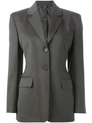 Romeo Gigli Vintage Classic Fitted Blazer Grey