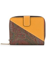 Etro Two Tone Square Wallet Yellow