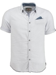 Garcia Plain Classic Fit Short Sleeve Button Down Shirt White