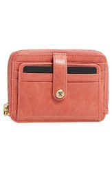 Hobo Women's 'Katya' Leather Wallet Pink Coral