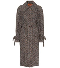 Missoni Wool And Cotton Knit Coat Multicoloured