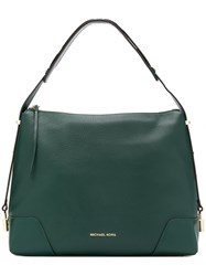 Michael Kors Large Crosby Shoulder Bag Green