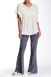 Bobeau Suede Flared Pant Gray