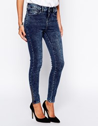 New Look Jean With Ankle Zips Blue
