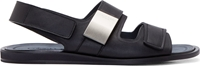Calvin Klein Black Leather Strap Sandals