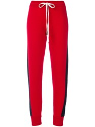 Juicy Couture Striped Track Pants Red