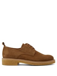 Ami Alexandre Mattiussi Suede Derby Shoes Tan