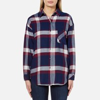 Rails Women's Jackson Shirt Catalina Wine Blue