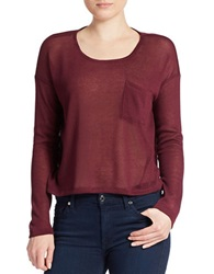 William Rast Open Knit Sweater Berry