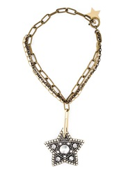 Lanvin Star Print Necklace Metallic