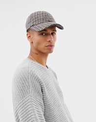 Weekday Check Cap In Brown