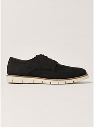 House Of Hounds Black Nubuck Leather Derby Shoes