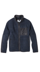 Patrik Ervell Fleece Jacket In Boiled Wool