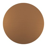 Amara Round Leather Placemat Bronze