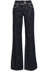 Moschino Woman Mid Rise Flared Jeans Dark Denim