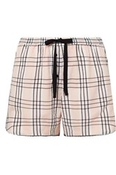 Morgan Lane Bea Plaid Seersucker Pajama Shorts Blush