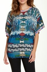 Custo Barcelona Printed Short Dolman Sleeve Pullover Multi