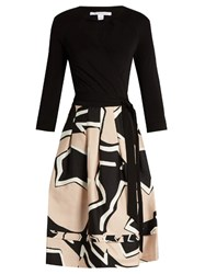Diane Von Furstenberg New Jewel Dress Black Beige