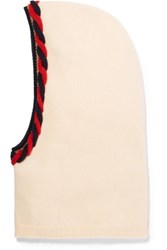 Gucci Braided Wool And Cashmere Blend Snood Ivory