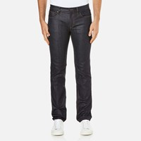 Hugo Men's 708 Straight Leg Jeans Raw Wash Blue