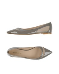 Martin Clay Footwear Ballet Flats Women Grey