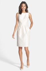 Women's Alfred Sung Boatneck Sheath Dress Champagne
