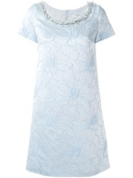 Blugirl Floral Jacquard Dress Blue