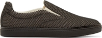 Maison Martin Margiela Black Pebbled Polka Dot Sneakers