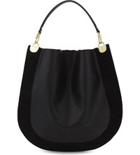 Diane Von Furstenberg Leather And Suede Hobo Black