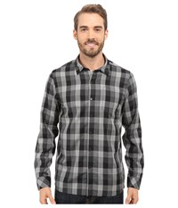 Icebreaker Departure Ii Long Sleeve Shirt Plaid Jet Heather Monsoon Snow Men's Long Sleeve Button Up Brown