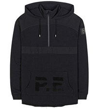 P.E Nation Break Point Cotton Hoodie Black