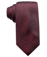 Ryan Seacrest Distinction Men's Orwell Unsolid Solid Slim Silk Tie Created For Macy's Wine