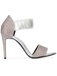 Pierre Hardy Glitter Detail Sandals Metallic