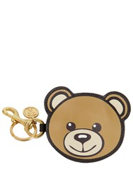 Moschino Teddy Coin Purse With Key Ring Brown