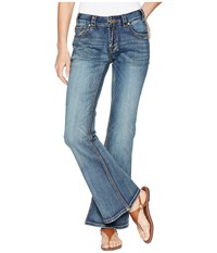 Rock And Roll Cowgirl Mid Rise Flare In Medium Vintage W1f6662 Medium Vintage Jeans Blue