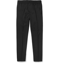 Acne Studios Ryder Slim Fit Wool And Mohair Blend Trousers Black