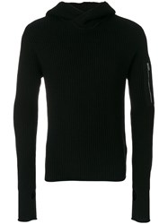 Emporio Armani Hooded Jumper Cashmere Wool Xl Black