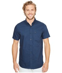 Rip Curl Ourtime Short Sleeve Shirt Navy Men's Clothing