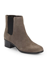 Bandolino Closter Suede Booties Taupe