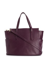 Coccinelle Logo Embossed Tote Bag Red