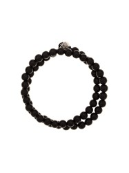 Luis Morais 'G6' Half Skull Toggle Bracelet Brown