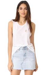 Private Party Peace Sign Tank White