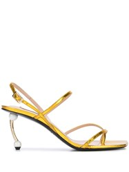 Coliac Embellished Heel Sandals Gold