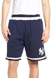 Mitchell And Ness Men's Playoff Win New York Yankees Mesh Warm Up Shorts