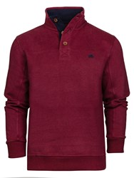 Raging Bull Men's Big And Tall Jersey Button Neck Sweat Claret